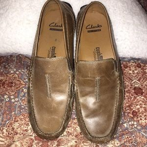 Brown men's soft cushion with ortholite loafers